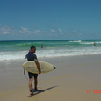 Surfing in Gold Coast