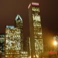 夜のシカゴ